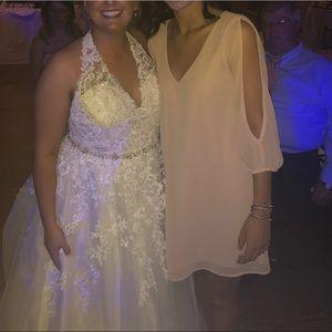 Blush honorary bridesmaids dress. Worn once.